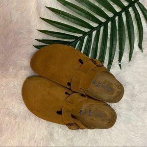 Birkenstock Boston Soft Footbed Suede Clogs